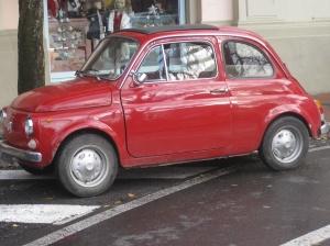 A favorite of ours, a vintage Fiat Cinquecento--500
